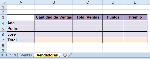 Insertar hoja vendedores contar.si excel