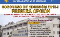 Unamba, examen de admisión primera opción 2015