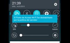 El Punto de Acceso Wi-Fi fue deshabilitado por la política del servidor