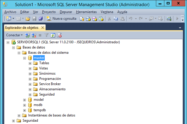 Restaurar la base  de datos MASTER en SQL Server 2012