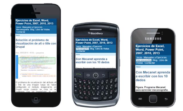 Cómo crear una versión para celulares de un sitio web en drupal 6