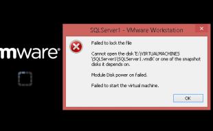 Solución del error VMWare Failed to lock the file